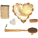 Top After Christmas Clearance Sale Deals Heart 7 Piece Bath Gift Set Back Loofah Valentines Day Gift Idea Wife...
