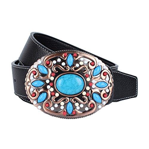 Baoblaze Cinturones para Correas para Mujer Hombres Complimentos Anchos Duradero - Negro, 110-125cm
