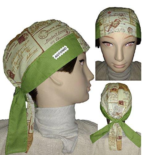 bandana-chef-bandana-e-altri-professionisti-stampaggio-postale-e-verde-cotone-molto-comodo-e-adattab