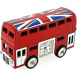 Park Lane roter London Bus mit Union Jack Sammleruhr PLCLK145