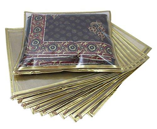Ruhi's Creations® Premium Golden Saree Bag / Cover (Suitable for Single Saree...