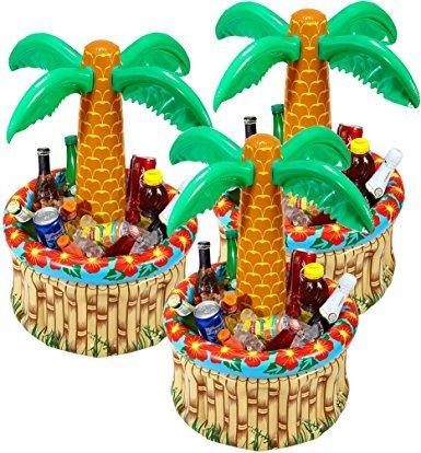Preisvergleich Produktbild 3 Stück Widmann 04865 - Aufblasbare Palmen Kühler für Getränke
