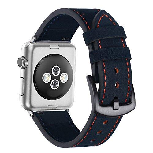 Streng Sivel Armband Elegant Apple Watch 38mm Edelstahlarmband Gliederarmband Schwarz Verschiedene Stile Uhren & Schmuck