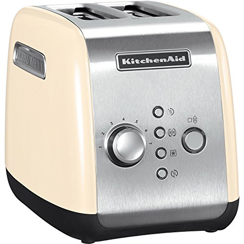 Kitchenaid 5KMT221EAC - Tostadora, color plateado y crema