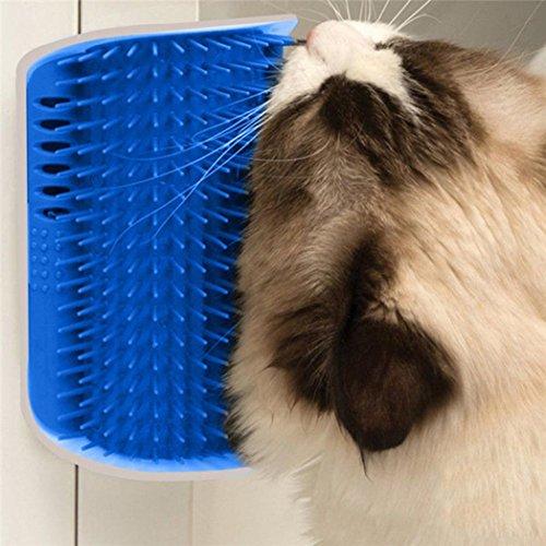 Wand Ecke Pflege Massagegerät Kamm Pet Katze Selbst Groomer Bürste Spielzeug mit Katzenminze