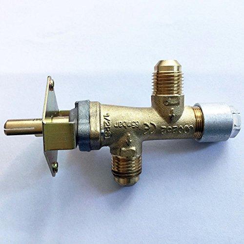 Earth Star 3/20,3cm NPT (5/8UNF) Einlass und Auslass Gewinde Gas Ventil Ersatz für Fire Pit/Gas Grill (Ersatz-gas-ventil)