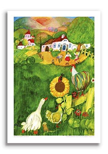 Poster fürs Kinderzimmer von Eva Maria Ott-Heidmann - Bauernhof vom schnurverlag