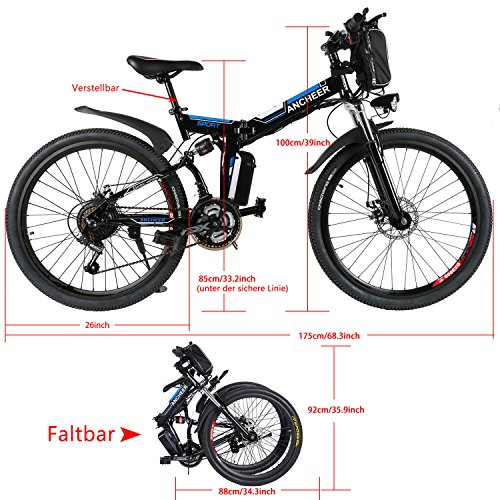 Ancheer Faltbares E-Bike - 2
