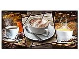 GRAZDesign 100083_001_01_04 Glasbild aus Acryl | Wandbild mit Bild-Motiv Kaffee Sorten | Wand-Deko für Küche/Esszimmer/Bar | Küchenbilder als Dekoration (100x50cm)