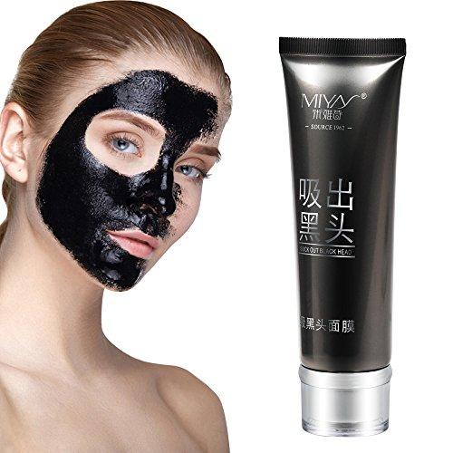 3 Min Maske (Mitesser Maske Blackhead Maske Black Peel Off Mask Schwarze Gesichtsmaske Nase Haut Reinigungsmaske Charcoal Mask (80g))
