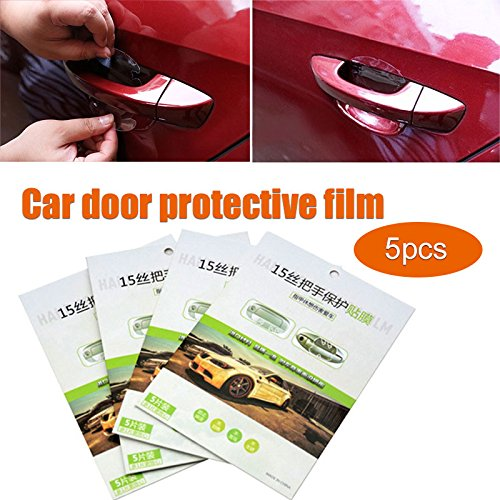Sedeta 5PCS Clear Universal Door Sill Guard Paint Anti-Scratches Protection Film Vinyl Sheet Decals Protector Film-scratch Guard