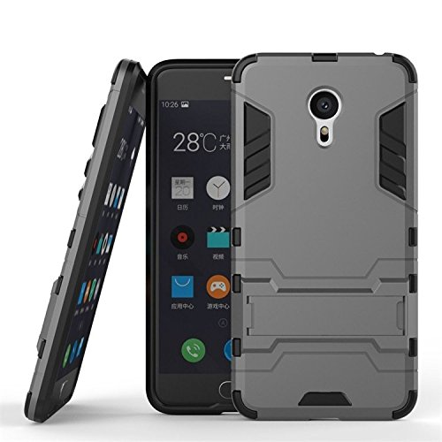 Chevron Rugged Terrain Armor Protective Shockproof Kick Stand Back Cover Case for Meizu m3 note (Grey)  available at amazon for Rs.149