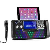 auna DiscoFever LED • Karaokemaschine • Kinder Karaoke Player • Karaoke Anlage • Bluetooth • CD-Player • Spielt Karaoke CDs • Farbdiplay • Zeigt Liedtext • Video-Ausgang • LED-Beleuchtung • schwarz