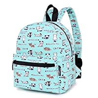 Lily & Drew Lightweight Mini Canvas Daypack Rucksack Backpack (Cat Blue)