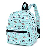 Lily & Drew Lightweight Mini Canvas Daypack Rucksack Backpack (Cat Blue Small)