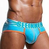 Unterwäsche Pants Herren, SEWORLD Herren Atmungsaktiv Bequem Sexy Unterwäsche Shorts Herren Unterhose Soft Briefs (Himmelblau, L)