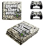 Playstation 4 Pro + 2 Controller Aufkleber Schutzfolien Set - GTA V (4) /PS4 P