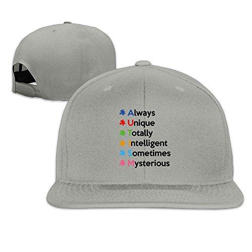 THNA Autismus Bewusstsein verstellbar Fashion Baseball Hat Gr. One size, asche