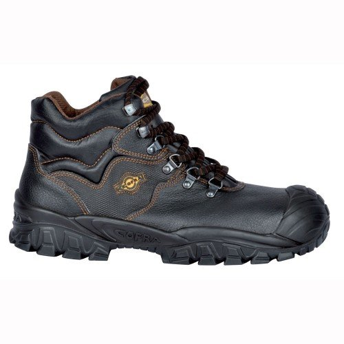Cofra Sicherheitsstiefel S3 SRC New Reno UK Techno Sicherheitshochschuhe, schwarz, Leder, Größe 45, 40-NT210000-45