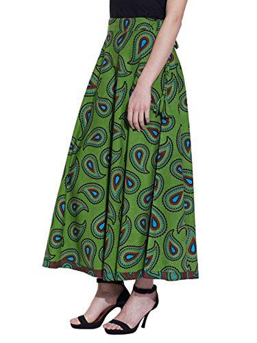 Maxi Rock Lang Knöchel Länge Zigeuner Baumwolle Kleid Sommer Color7