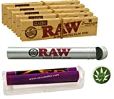 Zen Set 7tlg konische Drehmaschine 110mm - 5X RAW Connoisseur KS Papers inkl. Tips - RAW Aluminium Tube - Fight-Button 25mm