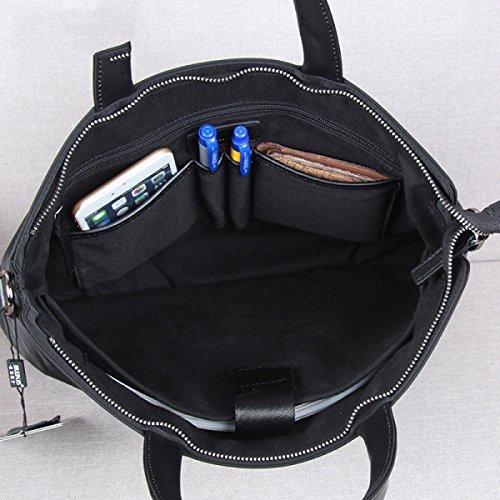 BULAGE Taschen Wasserdicht Oxford Leinwand Menschen Mobile Business Dokument Messenger Mode Computer Black