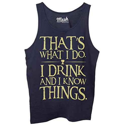 Canotta I DRINK AND I KNOW THINGS IMP - FILM by Mush Dress Your Style - Donna-XS-Blu navy