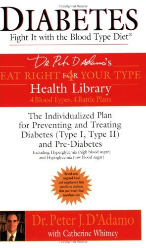 Diabetes: Fight it with the Blood Type Diet - The Indivualized Plan for Preventing and Treating Diab: Written by Dr. Peter J. D'Adamo, 2004 Edition, (Reprint) Publisher: Berkley Publishing Corporation,U.S. [Paperback]