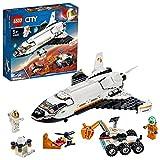 LEGO City Space Port - Lanzadera Científica a Marte, Juguete de Construcción de Nave Espacial inspirado en la NASA, Incluye un Róver y Dos Astronautas(60226)