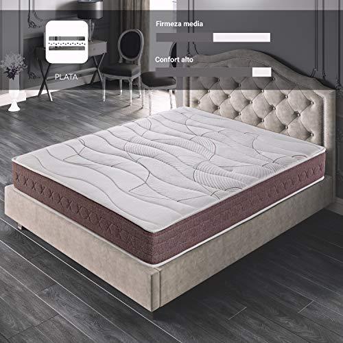 ROYAL SLEEP Colchón viscoelástico 90x190 firmeza Media, Alta Gama, Confort y adaptabilidad Total, Altura 24cm - Colchones Dormant Premium