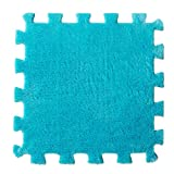 Kingko 6 Pc EVA Eco Puzzle Teppich Mosaik Fliese Wohnzimmer Kissen Nachttisch Teppich Umwelt Puzzle Teppich (Blau)