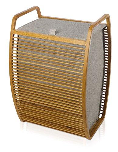 Möve 40905-071 Corbeille à Linge, Wood, 40 x 35, 5 x 60 cm
