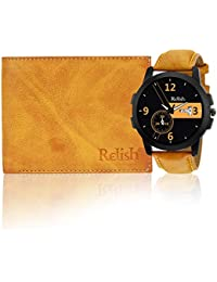 [Sponsored]Relish Combo Day And Date Display Wrist Watch And Wallet For Mens & Boys