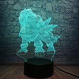 wangZJ 3d Led Lampe/Maison Table Night Light/Multicolor Télécommande/chambre...
