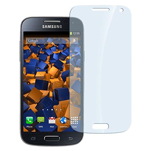 mumbi Panzerfolie für Samsung Galaxy S4 mini Glasfolie Hartglas 9H (Stück 4 Werfen Mini)
