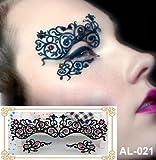 Party Augen Make-up Tattoo Spitze Aufkleber Halloween AL-021 Sticker Tattoo - FashionLife