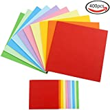 JPSOR 400 hojas papel de origami(200 hojas de 15x15cm, 200 hojas de 8x8cm)
