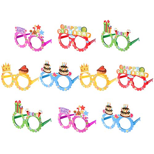 Toyvian Papier Party Brille Frames 10 STÜCKE Happy Birthday Brille Neuheit Dekoration Party Favors für Kinder