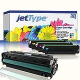 jetType Toner Set ersetzt HP 305A / 305X (CE410X / CE411A / CE412A / CE413A) für LaserJet Pro 300 Color MFP M375nw, Pro 400 Color M451dn, Pro 400 Color M451nw