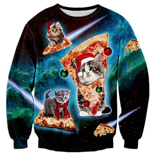 TUONROAD Ugly Christmas Sweater Hommes Pull...