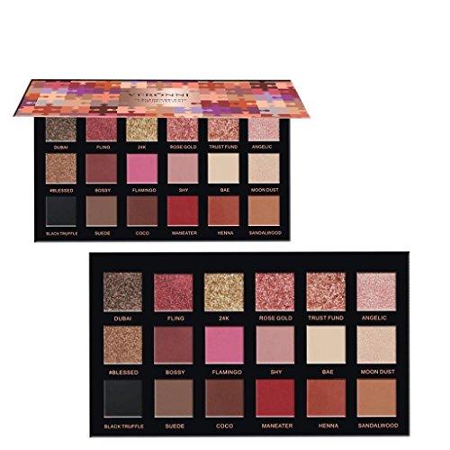 Fards à paupières,18 couleurs fard à paupières texture Pallete face Matte Pearl maquillage fard à paupières ensemble par LHWY