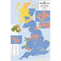UK Parliamentary Constituencies Wall Map