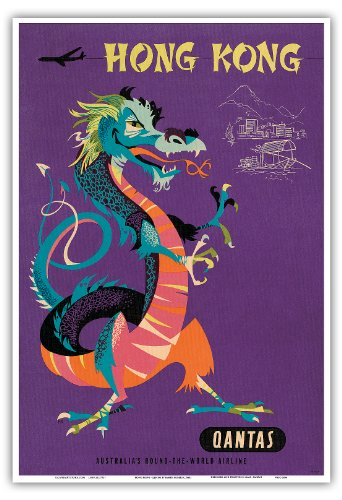 hong-kong-qantas-airways-dragon-chinois-au-trsor-vintage-airline-travel-poster-by-harry-rogers-c1960
