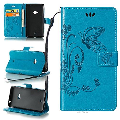 ZeWoo Folio Custodia in PU Pelle - LD109 / Classico blu - per Nokia Lumia 625 Custodia Protettiva