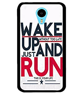 ColourCraft Quote Design Back Case Cover for MEIZU M1 NOTE