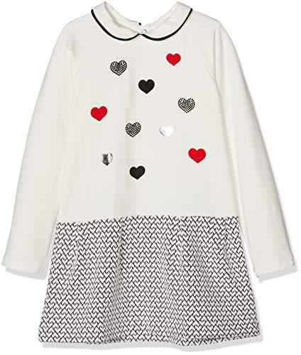 Chicco 09003314000000-039, Robe Bébé Fille, Multicolore (Bianco E Nero 039), 86 cm