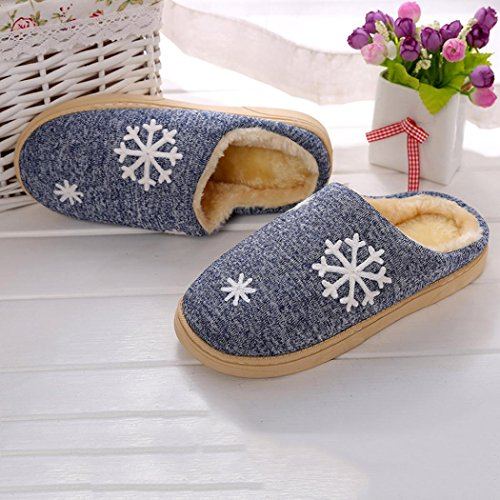 Faux Uomo PellicciaScarpe Pantofole Home 868 Blu Calde InvernoIndoor Dragon WIqv5v