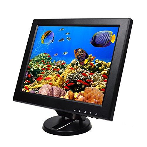 Toguard 12 Zoll TFT LCD Farbbildschirm mit VGA HDMI AV BNC 800 * 600 Anschlüssen mit Lautsprecher und großem Betrachtungswinkel