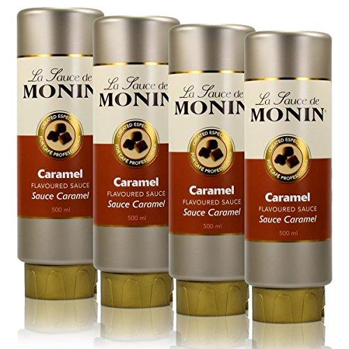 4x Monin Caramel Sauce 500 ml - Caramel Flavoured Sauce -