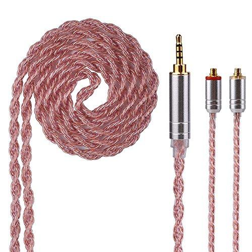 IEM MMCX Kabel Yinyoo Verbesserte 6 Core Kupfer-Plated Ausgeglichene Kopfhörer Kabel 2,5mm Abnehmbare MMCX Kabel für LZ a4 a5 Shure SE215 SE315 SE846 SE535 SE425 UE900 Kopfhörer (MMCX 2,5)